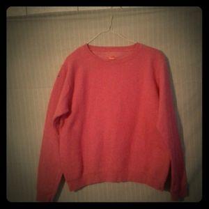 Hanes ComfortBlend Pink Crew Neck Sweater, Size S
